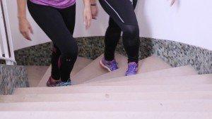 Ejercicios saludables: subir escaleras