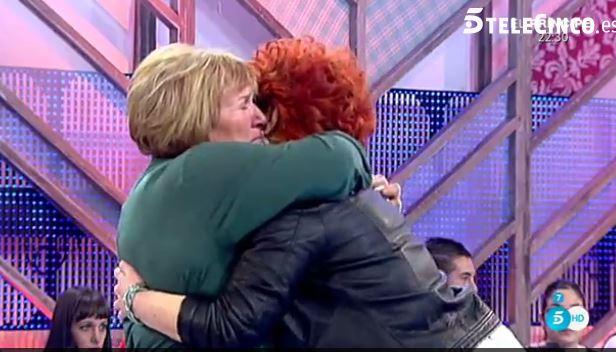 Yolanda junto a su familia en Telecinco