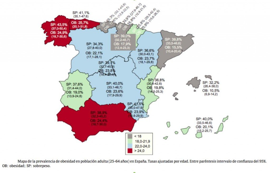 mapa obesidad españa