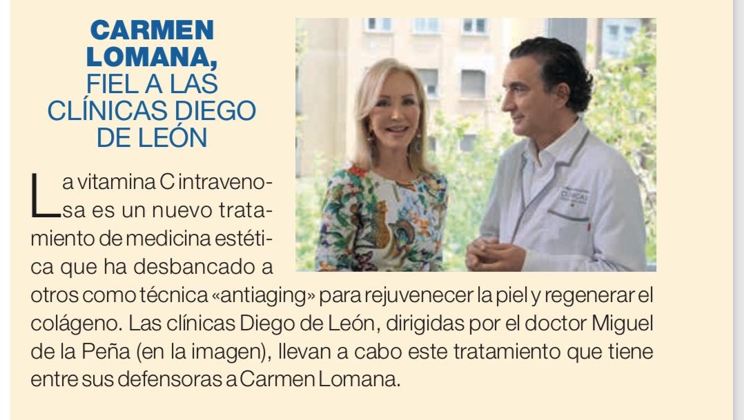 Carmen Lomana Tratamientos - Clínicas Diego de León