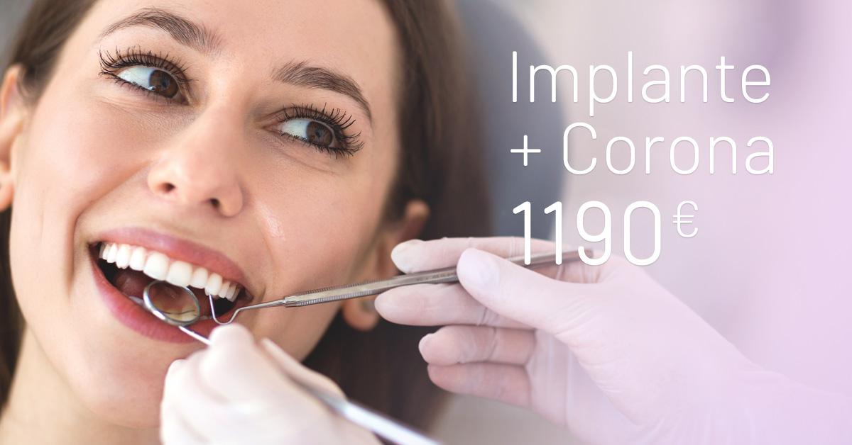 Implante y Corona oferta - Clínicas Diego de León