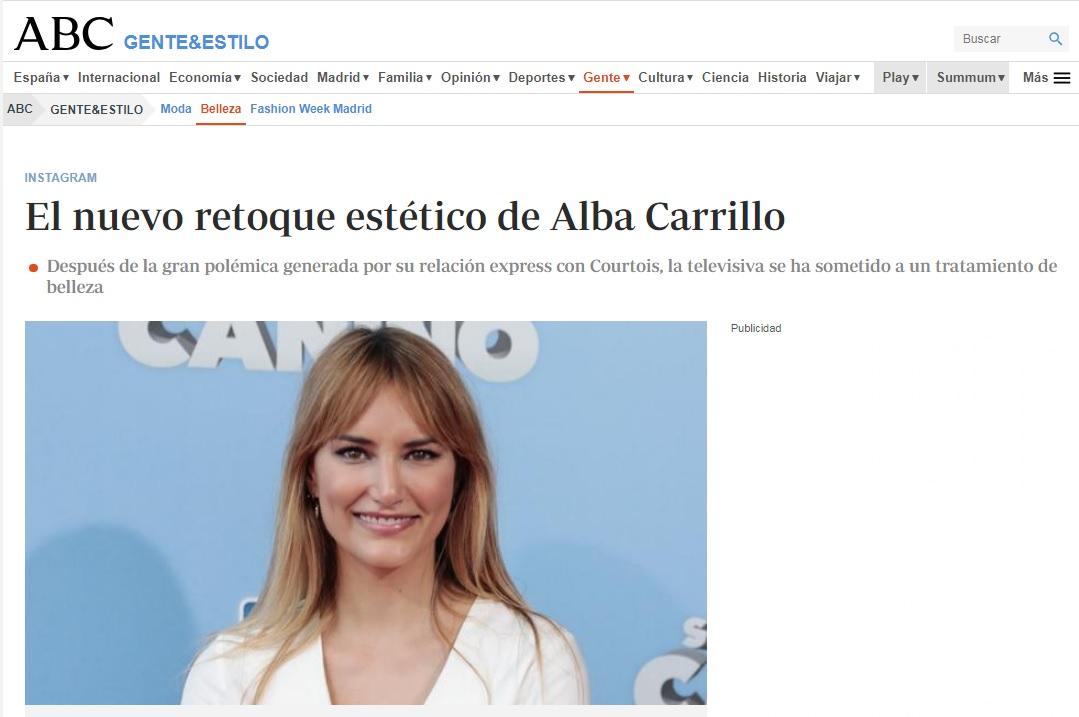 Retoques estéticos de Alba Carrillo - Clínicas Diego de León