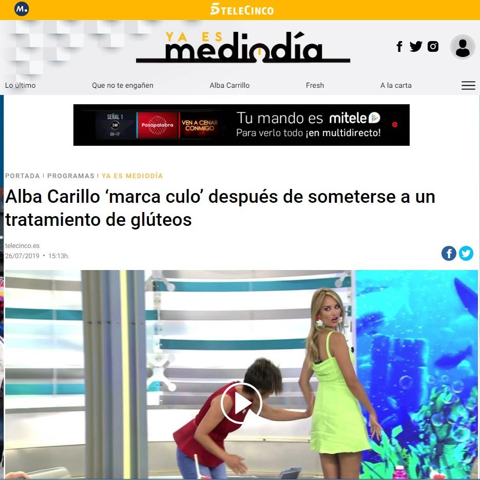 Culo Kardashian de Alba Carrillo - Clínicas Diego de León