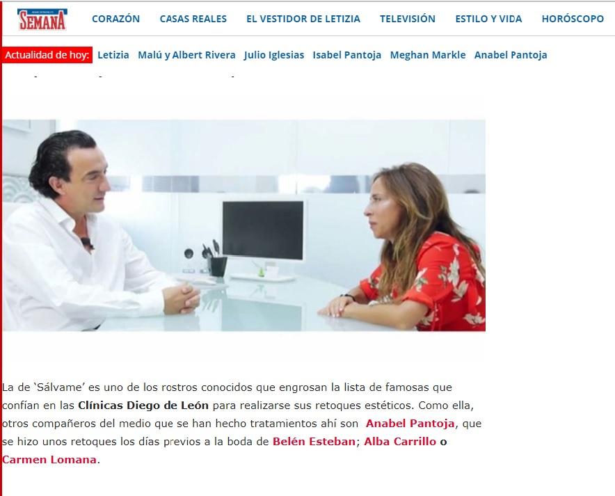 María Patino Retoques estéticos - Clínicas Diego de León