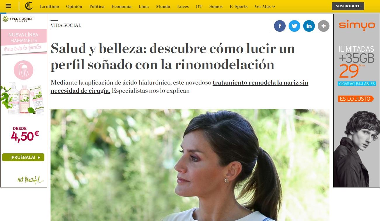 Rinomodelación sin cirugía - Clínicas Diego de León