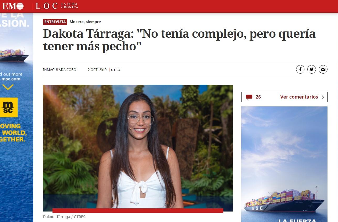 Aumento de pecho Dakota Tarraga- Clínicas Diego de León
