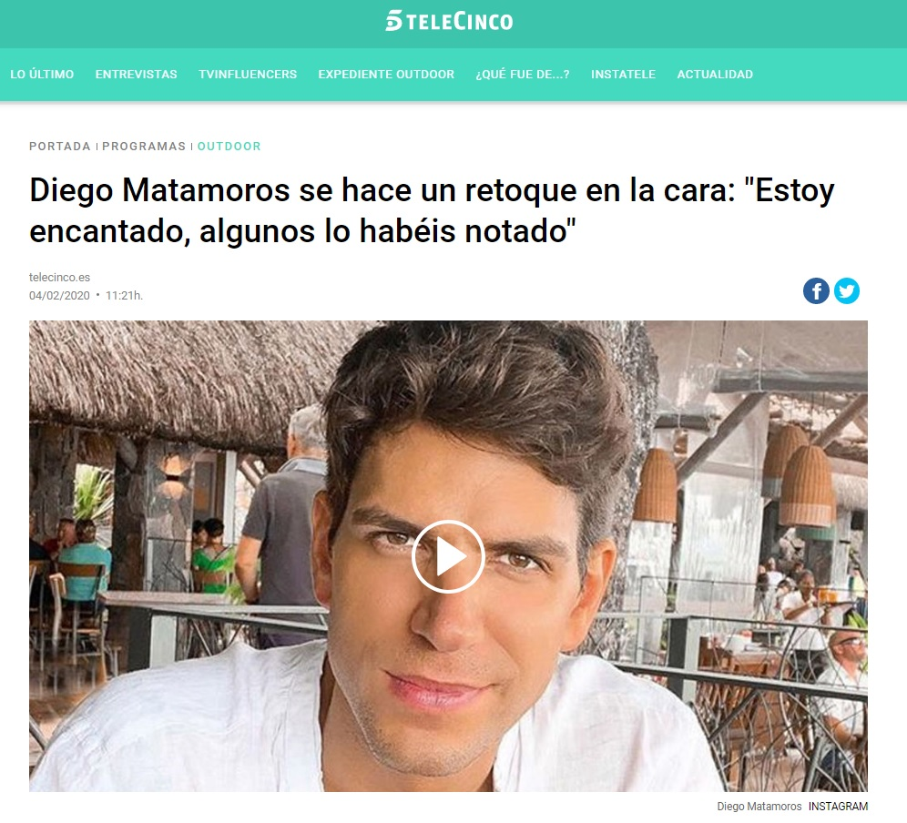 Retoques estéticos Diego Matamoros   Clínicas Diego de León